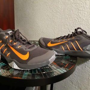 Nike training shoes 11.5 wolf grey and orange